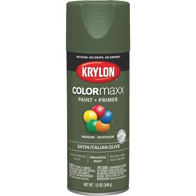 Krylon ColorMaxx 12 Oz. Satin Spray Paint, Italian Olive