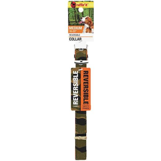 Westminster Pet Ruffin' it Reversible 16 In. to 20 In. Nylon Dog Collar