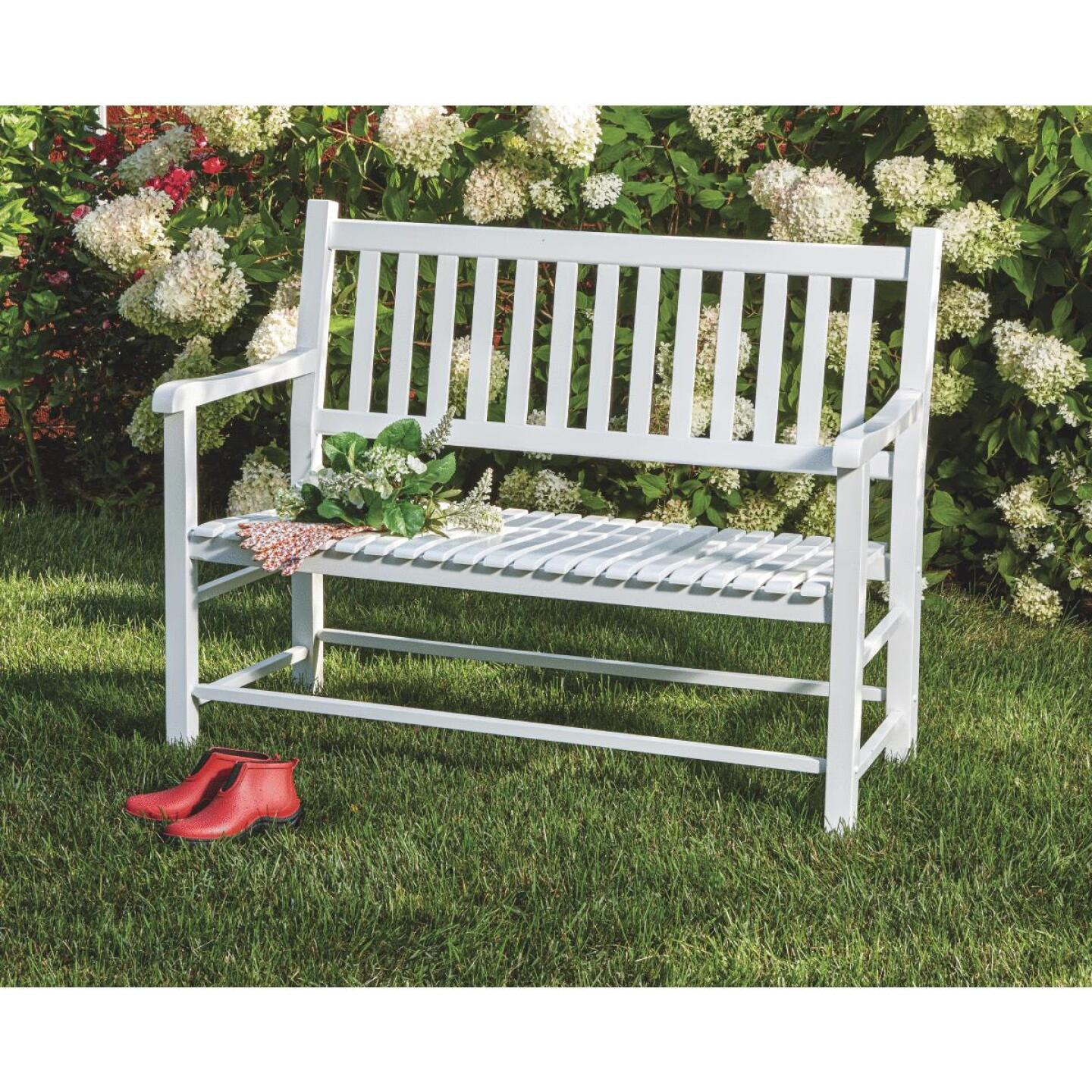 Knollwood Wood Bench Image 3
