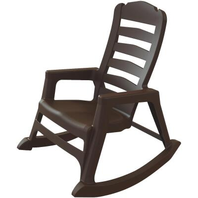 Big Easy Earth Brown Resin Stackable Rocking Chair