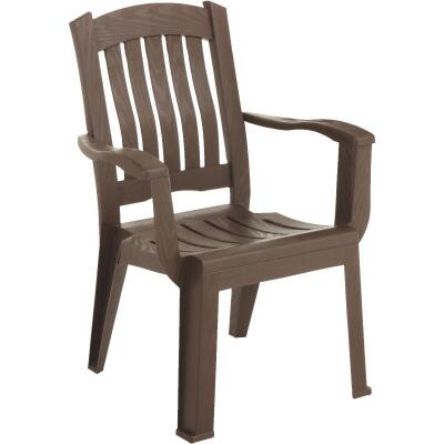 Adams Brentwood Earth Brown Resin Chair