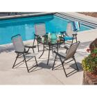 Outdoor Expressions Galveston Gray Sling Folding Chair Image 10