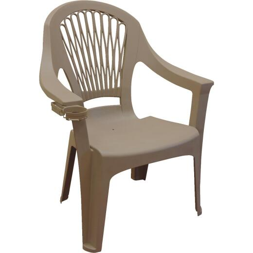 Adams Big Easy Portobello Resin High Back Stackable Chair