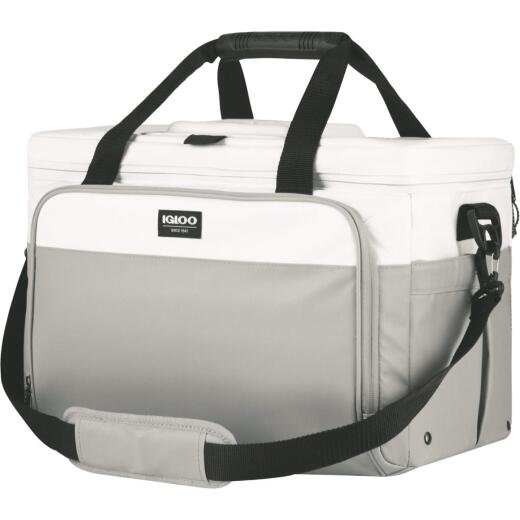 Igloo MaxCold Marine Gray Divided Soft-Side Cooler (36-Can)