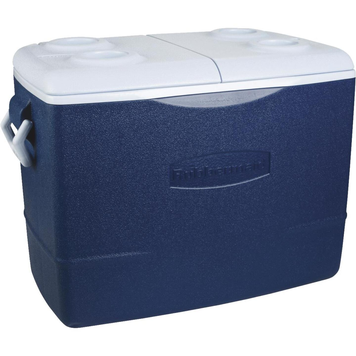 Rubbermaid 50 Qt. Cooler, Blue Image 1