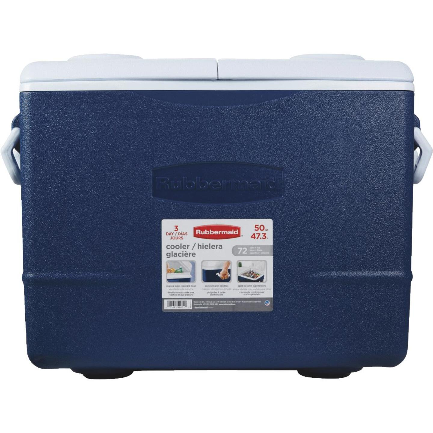 Rubbermaid 50 Qt. Cooler, Blue Image 2
