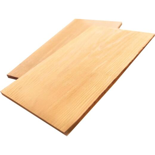GrillPro 5-1/4 In. W. x 11-7/8 In. L. x 5/16 In. Thick Cedar Grilling Smoke Plank (2-Pack)