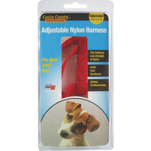 Westminster Pet Ruffin' it 14 In. to 20 In. Red Harness