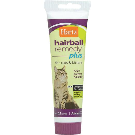 Hartz Hairball Eliminator Remedy Plus 3 Oz. Salmon Flavor Paste For Cats & Kittens