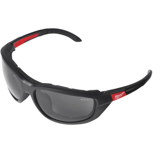 Milwaukee Red & Black Frame Gasketed High Performance Safety Glasses with Tinted & Polarized Lenses