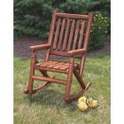 Leigh Country Amber-Log Stained Amber Acacia Wood Single Porch Rocker Image 3