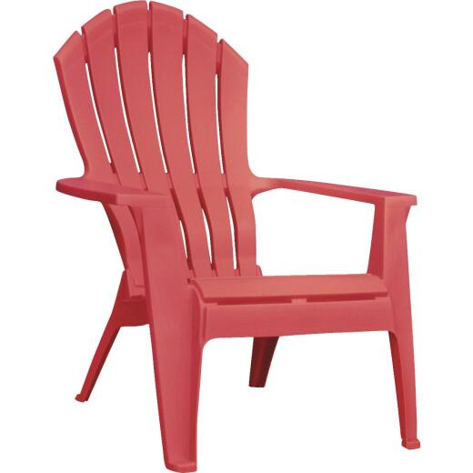 Adams RealComfort Cherry Red Resin Adirondack Chair