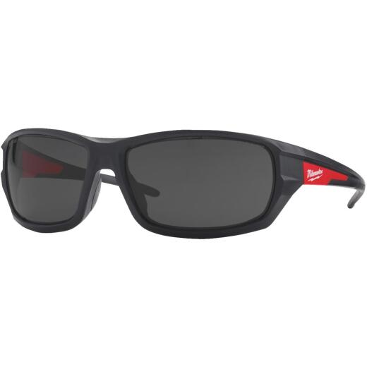 Milwuakee Red & Black Frame High Performance Safety Glasses with Tinted Lenses