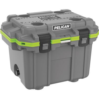 Pelican Elite 30-Qt. Cooler, Dark Gray & Green