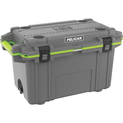 Pelican Elite 70-Qt. Cooler, Dark Gray & Green