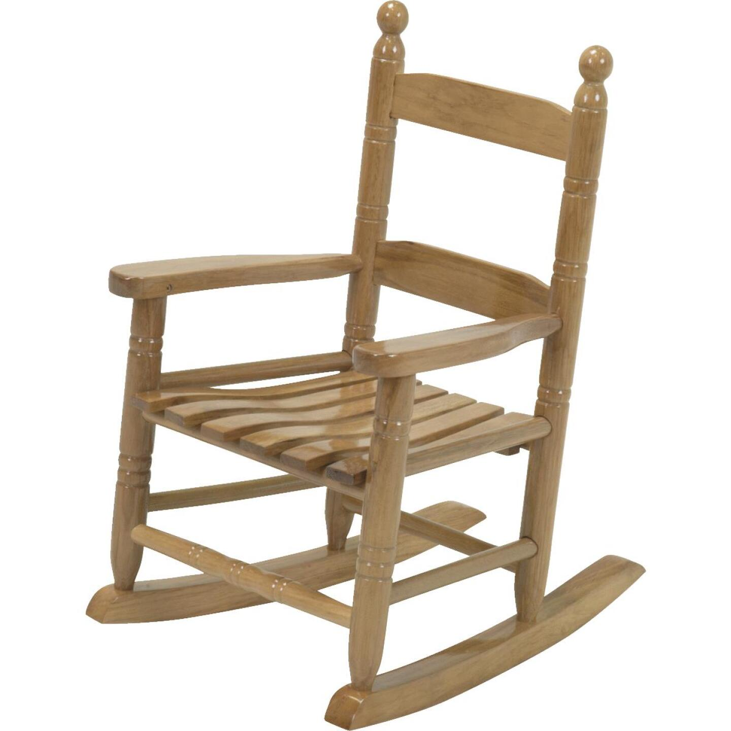 Knollwood Natural Wood Child Rocking Chair Image 2