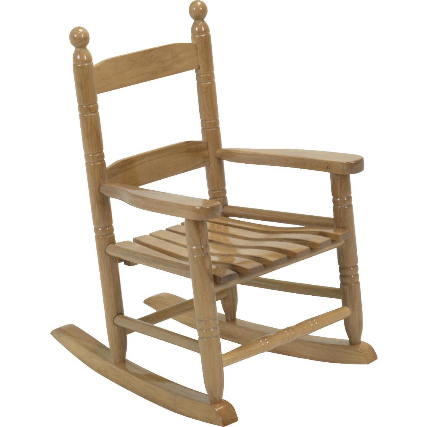 Knollwood Natural Wood Child Rocking Chair Image 1